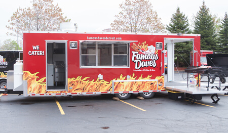 BBQ Party Catering Livonia MI - Famous Dave's - catering-battle-wagon
